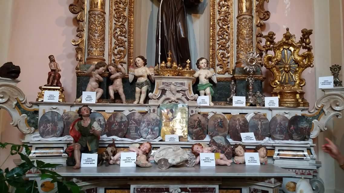 A Montella ritornano 38 reliquie e oggetti sacri rubati tra il 1969 e il 2017: