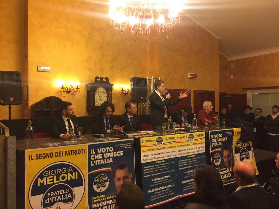 Giorgia Meloni Fratelli d'ITALIA   Montella 17 febbraio 2018