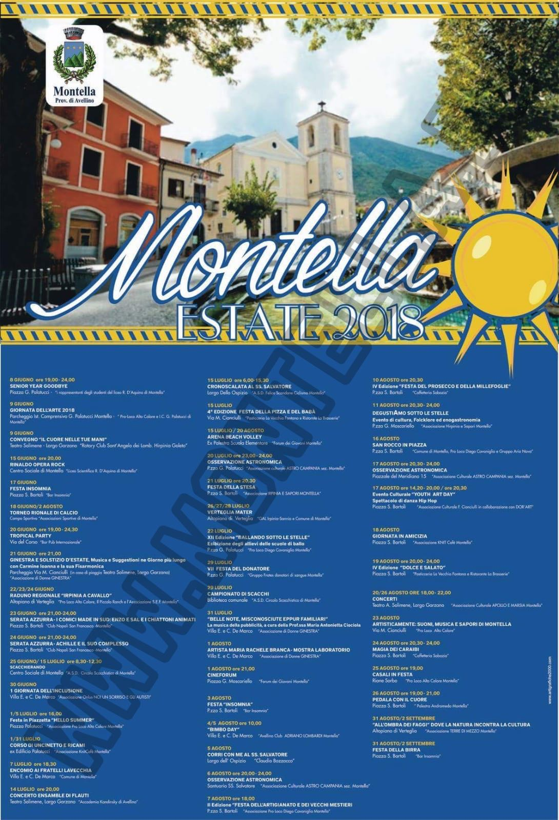Programma Estate Montellese 2018