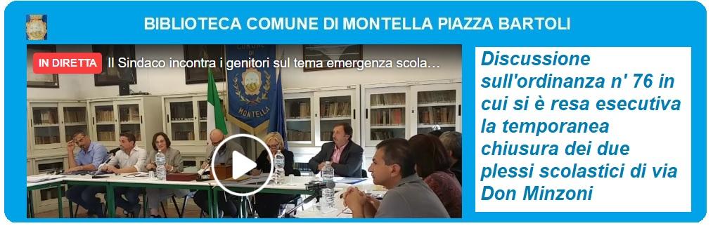 Il Sindaco incontra i genitori sul tema emergenza scolastica a Montella (03/10/2019)