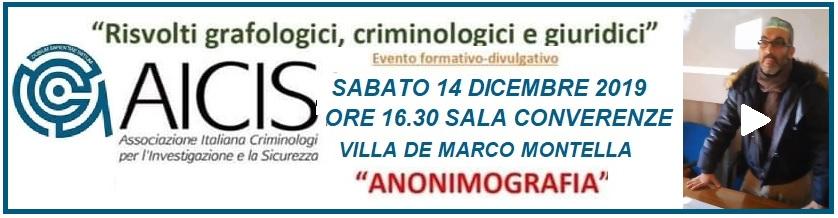 Anonimografia, l'evento formativ a Montella Intervista a Gianluca Capra