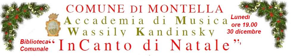 30 DIcembre 2019 ore 19.00 DIRETTA STREAMING SU www.montella.eu In Canto di Natale