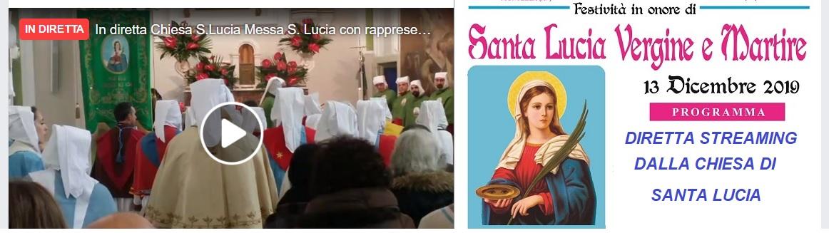 13 dicembre 2019 Santa Lucia  Santa messa in diretta