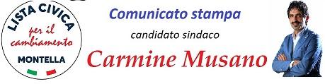 """Comunicato stampa del candidato sindaco Carmine Musano della """"LISTA CIVICA MONTELLA PER IL CAMBIAMENTO"""" sulla presentazione della Lista."""