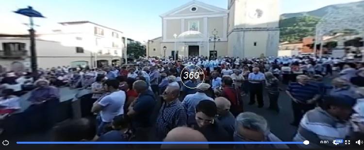 Festa S.Salvatore montella Piazza Bartoli 360°