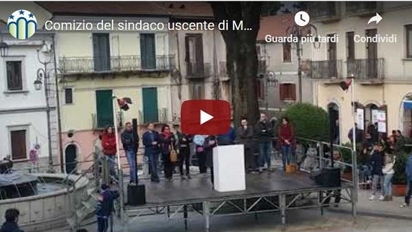 Comizio in piazza Bartoli del sindaco uscente di Montella Ferruccio Capone (28/04/2019)