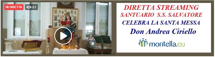 Domenica 31 maggio Santa Messa dal Santuario del SS.Salvatore