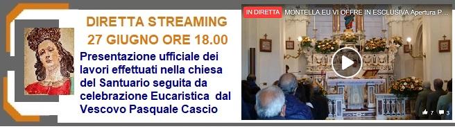 Santuario SS.Salvatore 27 giugno ore 18.00 Diretta Presentazione ufficiale del completamento dei lavori effettuati nella Chiesa