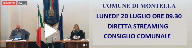 Consiglio Comunale su facebook montella.eu 20 luglio 2020 0re 09.00 diretta streaming
