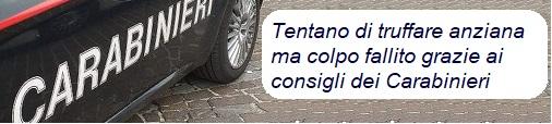 Montella| Tentano di truffare anziana ma colpo fallisce grazie ai consigli dei Carabinieri