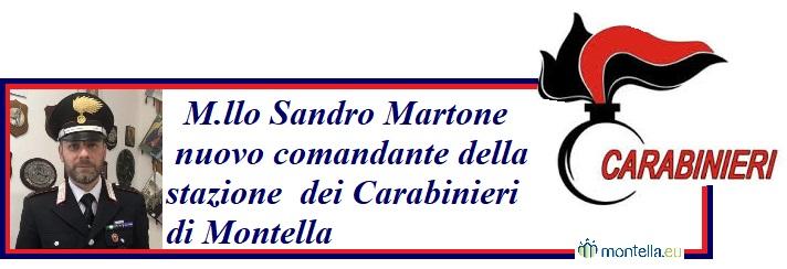 Montella, il maresciallo Sandro Martone è il nuovo comandante della stazione dei carabinieri