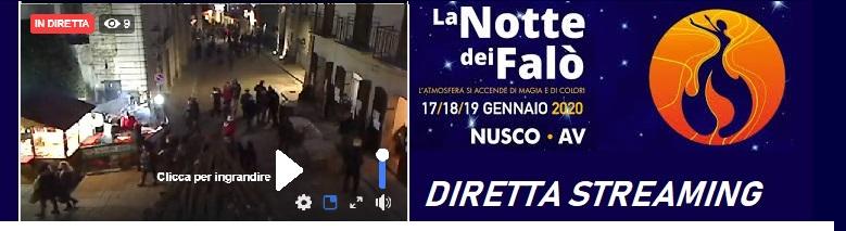 """Diretta streaming da Nusco """" La Notte dei Falò """" DOMENICA  20"""