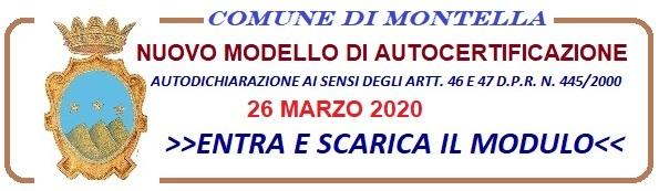 Nuovo modello di autodichiarazione 26 marzo 2020