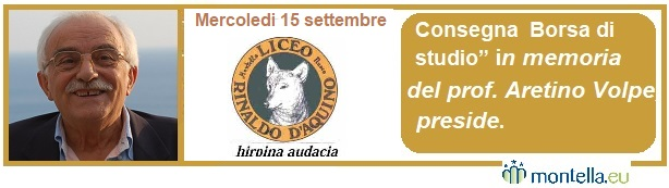 Borsa di studio in Memoria del prof. Aretino Volpe, preside anno scolastico 2020/2021