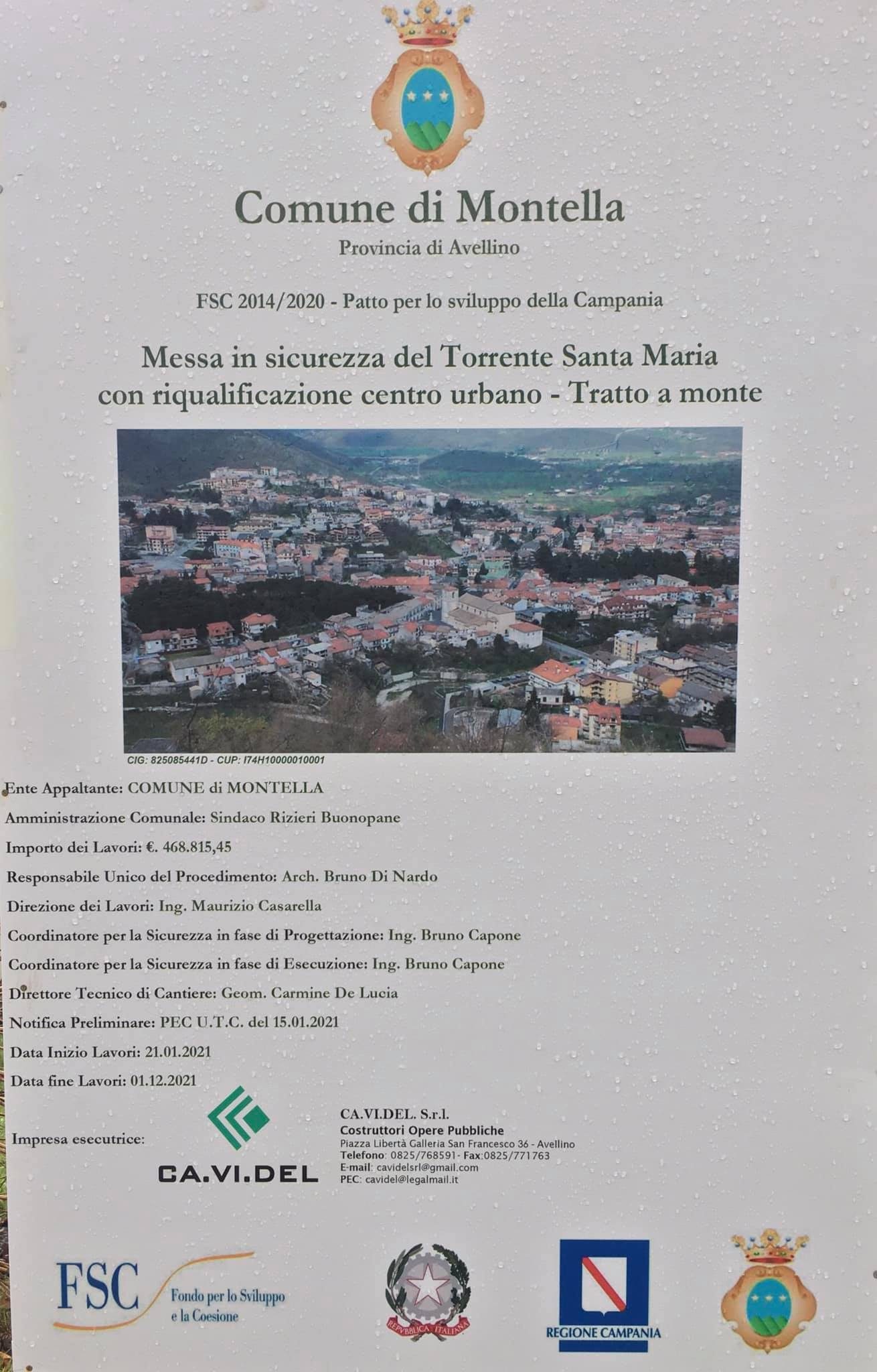 Messa in sicurezza del torrente Santa Maria Montella
