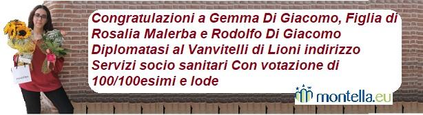 Diploma Gemma Di Giacomo Montella