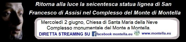 Ritorna alla luce la seicentesca statua lignea di San Francesco di Assisi nel Complesso del Monte di Montella grazie al contributo di Rotary e Altergon Italia.