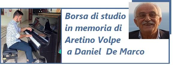 Borsa di studio in memoria di Aretino Volpe 2021 a Daniel  De Marco