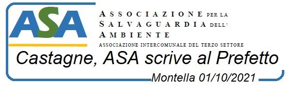 Montella : Castagne, ASA scrive al Prefetto