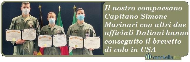 Brevetto di volo in USA del nostro compaesano Capitano Simone Marinari