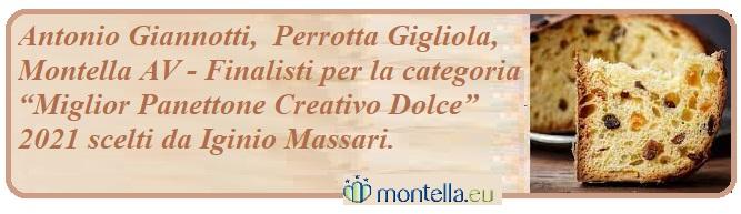 """Antonio Giannotti, Perrotta Gigliola Finalisti per la categoria """"Miglior Panettone Creativo Dolce"""" 2021"""