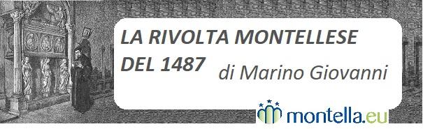 La rivolta montellese del 1487 di Marino Giovanni