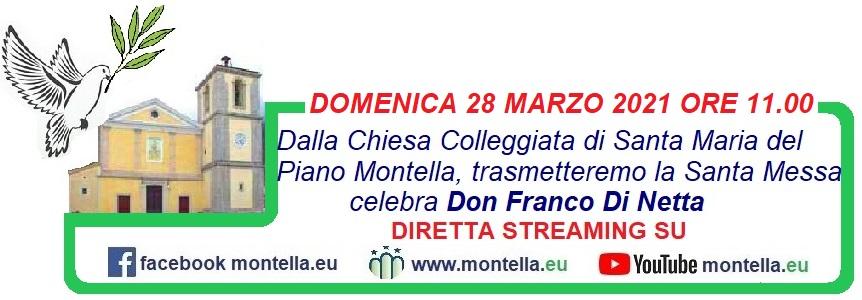 Montella 28 marzo Messa in diretta