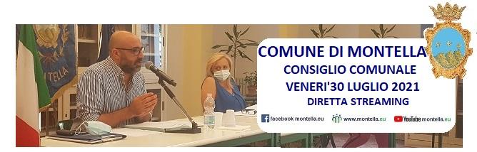 Consiglio Comunale del 30 luglio 2021 Diretta streaming