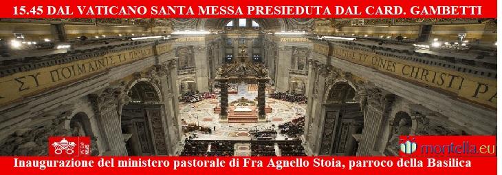Inaugurazione del ministero pastorale di Fra Agnello Stoia, parroco della Basilica - diretta streaming ore 15.45