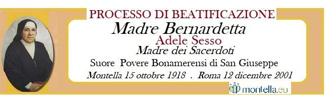 Madre Bernardetta , il processo di Beatificazione