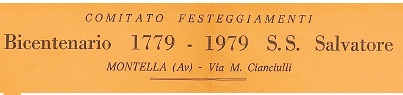 Locandina Bicentenario  S.S. Salvatore 1779-1979