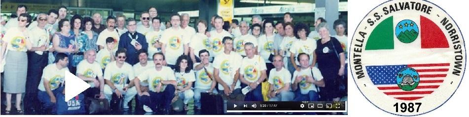 GEMELLAGGIO DI MONTELLA CON NORRISTOWN 1987