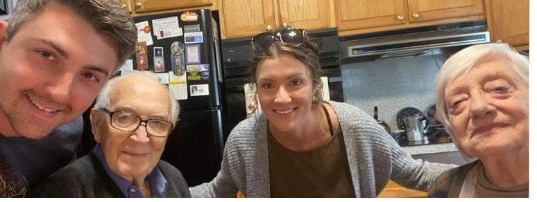 Dai nonni Claudio e Camilla a Norristown