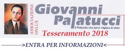 """Associazione ONLUS """"Giovanni Palatucci """" Tesseramento 2018"""